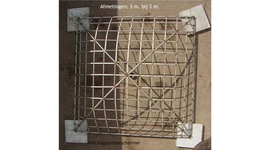 RVS zuigpuntbeschermer
